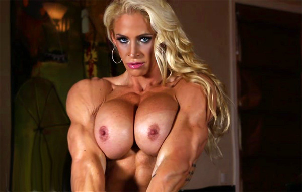 Hot babe big blonde body boob builder are